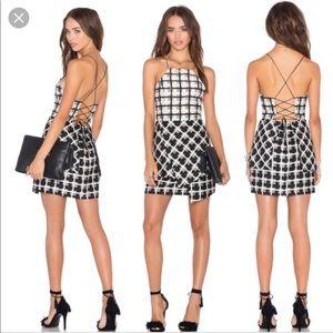 NBD Lace Up Eternal Day Mini Dress NWT